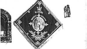 Drapeau de la Société Sainte-Barbe de Blaugies