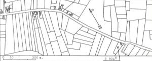 Plan de localisation cadastrale du Moulin du Chêne à Blaugies