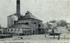 Puits n'°1 Sauwartan à Dour de la concession Grand Bouillon du Bois de Saint-Ghislain
