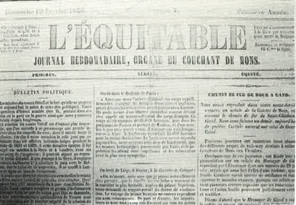 Journal L'Equitable de Dour