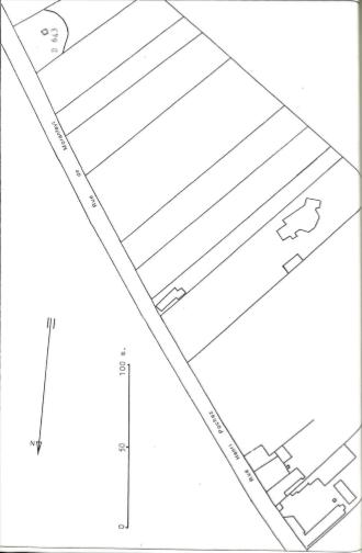 Plan de localisation cadastrale du Moulin de l'Alouette de Dour