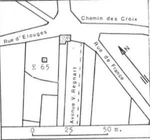 Plan de localisation cadastrale du Moulin des Berceaux de Dour