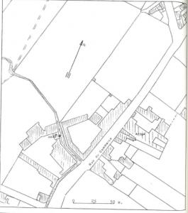 Plan de localisation cadastrale du moulin de Narcisse Debove à Elouges