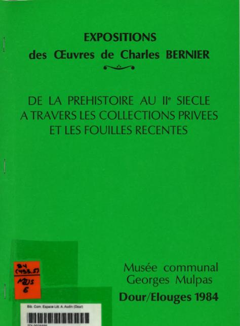 Expositions des oeuvres de Charles Bernier : catalogue d'exposition