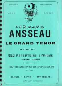 Jeanne Quin et Richard Preux : Fernand Ansseau : Catalogue d'exposition