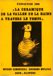 La céramique de la vallée de la haine à travers le temps : catalogue d'exposition
