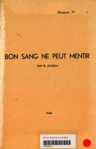 Adolphine Jumeau - Bon sang ne peut mentir