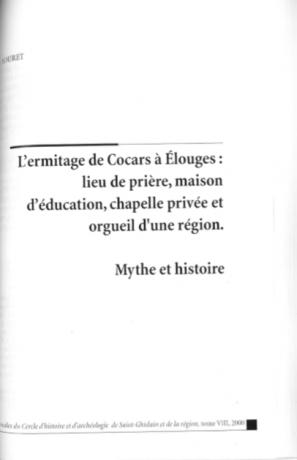 Alain Jouret - L'ermitage de Cocars à Elouges