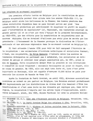 Alain Jouret - Quelques mots à propos de la coopérative douroise