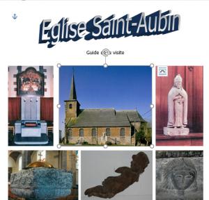 Bibliothèque communale de Dour - Eglise Saint-Aubin