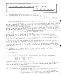 Claude Bertiau - Contribution à l'histoire de Wihéries