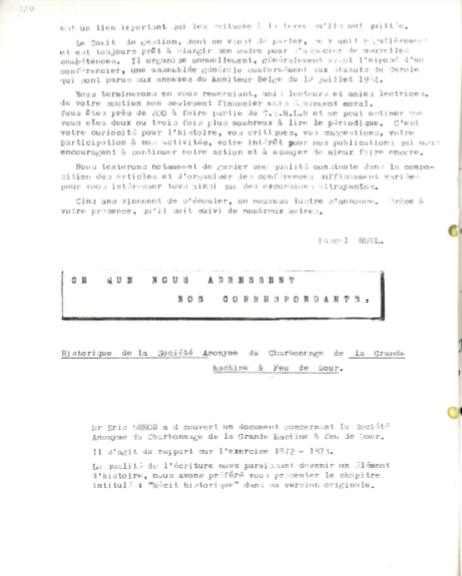 Historique de la Société Anonyme du Charbonnage de La Grande Machine à Feu de Dour