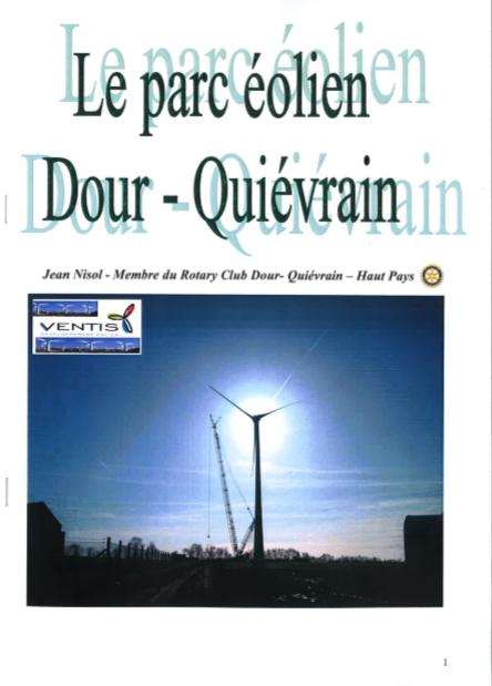 Jean Nisol - Le parc éolien Dour-Quiévrain