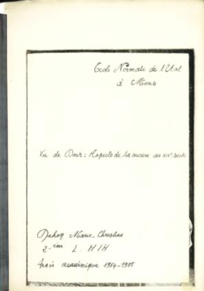 Marie-Christine Dehon - Vu de Dour aspects de la misère au XIXe siècle