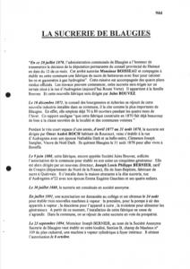 Marie-Thérèse Capouillez-Chomis - La sucrerie de Blaugies