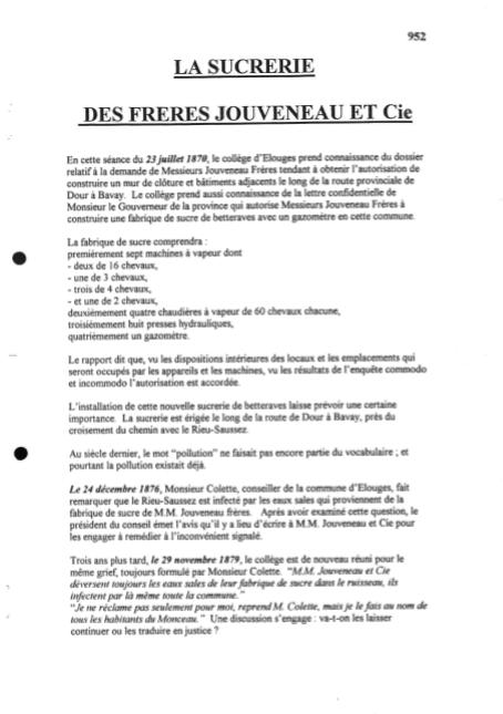 Marie-Thérèse Capouillez-Chomis - La sucrerie des Jouveneau et Cie