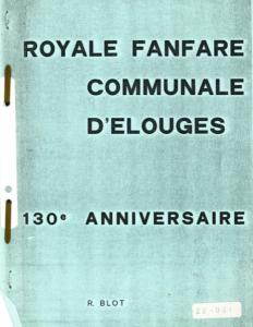 R. Blot - Royale Fanfare communale d'Elouges