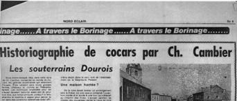 Audin,Alain, Historiographie de Cocars par Ch. Cambier : les souterrains dourois