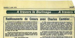 Audin Alain - Redécouverte de Cocars avec Charles Cambier