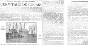Nouvelle escapade au travers du passé : l'ermitage de Cocars