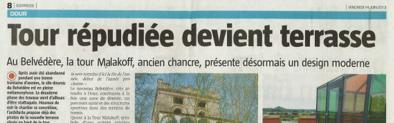 Christophe Morel - Tour répudiée devient terrasse