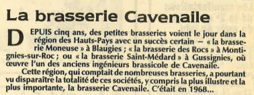 La brasserie Cavenaile