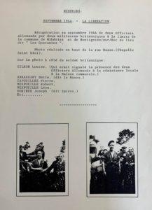 Libération à Wihéries (coll. Bibliothèque de Dour)