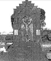 Plaque commémorative du cimetière de Blaugies