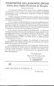 Règles de la Confrérie Sainte-Croix de Blaugies