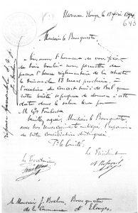 Lettre de la chorale du Monceau d'Elouges