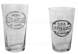 Quelques exemples de verre des Grandes Brasseries de Blaugies S.A.