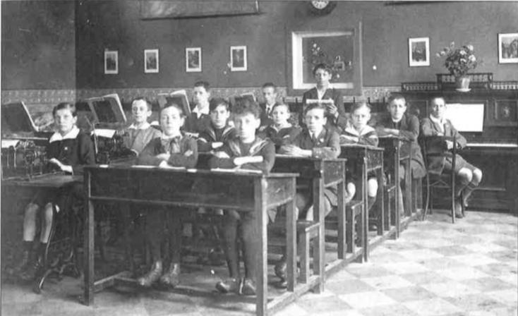 Cours supérieur de l'Ecole des Frères des écoles chrétiennes de Dour