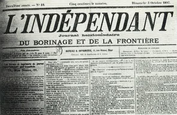 Journal L'Indépendant de Dour