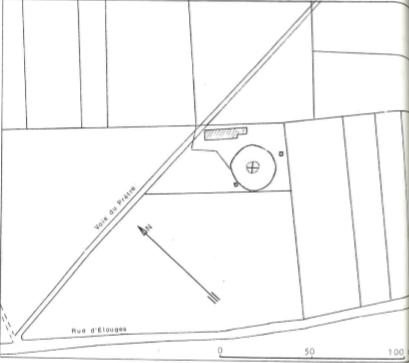 Plan de localisation cadastrale du Moulin P. Mathieu de Dour