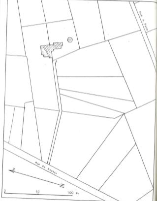 Plan de localisation cadastrale du Moulin de briques de Dour