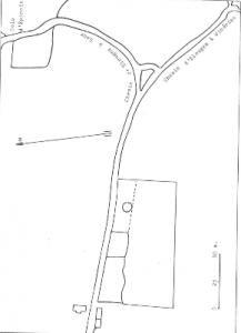 Plan de localisation cadastrale du moulin à vent Nollet à Elouges