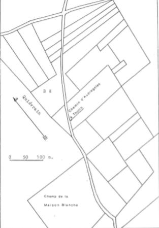 Plan de localisation cadastrale du moulin Brielle à Elouges