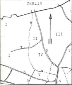 Plan de localisation cadastrale du moulin de Belhomme à Elouges