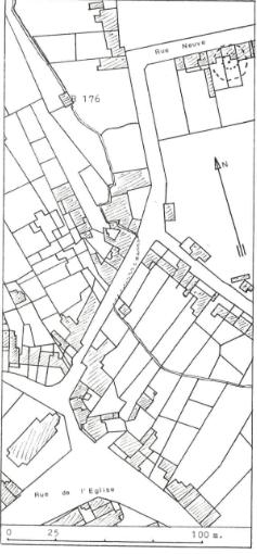 Plan de localisation cadastrale du moulin de Wihéries à Wihéries
