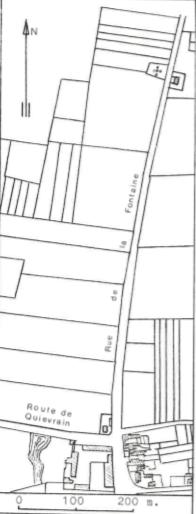 Plan de localisation cadastrale du moulin Chevalier à Wihéries