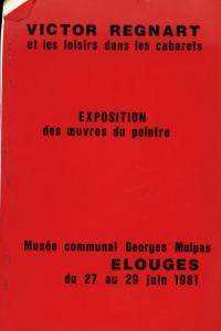 Victor Regnart et les loisirs dans les cabarets : catalogue d'exposition