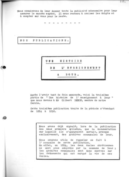 Gilbert Dehon - Une histoire de l'enseignement à Dour