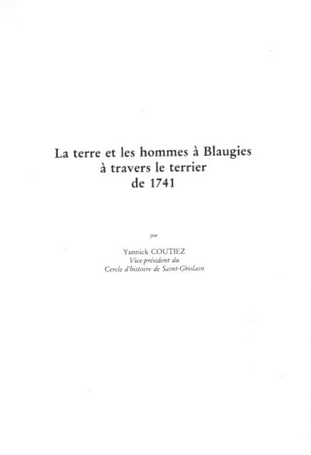 Yannick Coutiez - La terre et les hommes à Blaugies