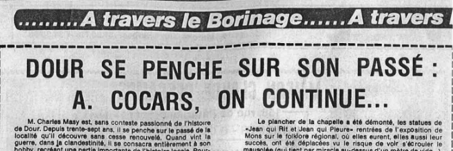 Audin Alain - Dour se penche sur son passé : à Cocars, on continue...