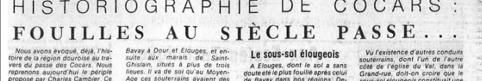 Historiographie de Cocars : fouilles au siècle passé...
