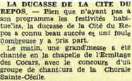 La ducasse de la Cité du Repos