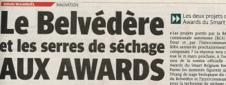 Dumski Caroline - Le Belvédère et les serres de séchage aux awards