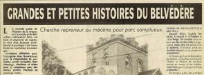 Nisolle H. - Grandes et petites histoire du Belvédère