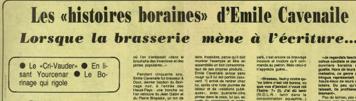 """Parret Luc - Les """"histoires boraines"""" d'Emile Cavenaile : lorsque la brasserie mène à l'écriture..."""