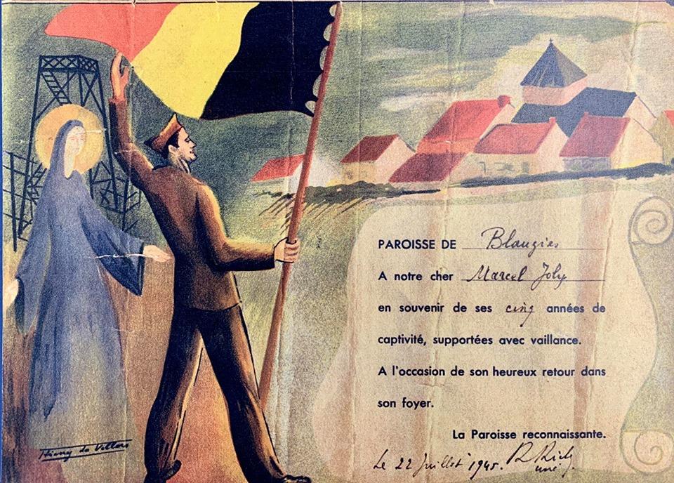 Marcel Joly - Retour d'un prisonnier à Blaugies